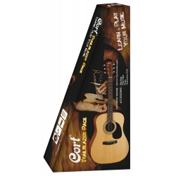 PACK GUITARE CORT 810 NATUREL P.OUVERT