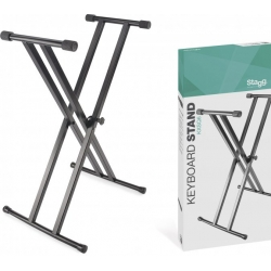 STAGG KEYB. STAND DOUBLE X SOUDE