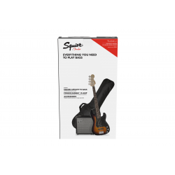 SQUIER Affinity Series™ Precision Bass® PJ Pack, Laurel Fingerboard, Brown Sunburst, Gig Bag, Rumble™ 15 - 230V UK