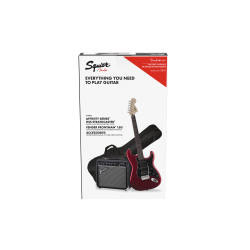 SQUIER Affinity Series™ Stratocaster® HSS Pack, Laurel Fingerboard, Candy Apple Red, Gig Bag, 15G - 230V UK