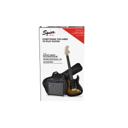 SQUIER Affinity Series™ Stratocaster® HSS Pack, Laurel Fingerboard, Brown Sunburst, Gig Bag, 15G - 230V UK