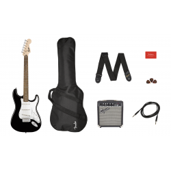 SQUIER Stratocaster® Pack, Laurel Fingerboard, Black, Gig Bag, 10G - 230V UK