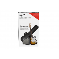 SQUIER Stratocaster® Pack, Laurel Fingerboard, Brown Sunburst, Gig Bag, 10G - 230V UK