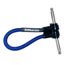 DIMARZIO EP17J06RREB Jumper - Câble jack 15cm - bleu