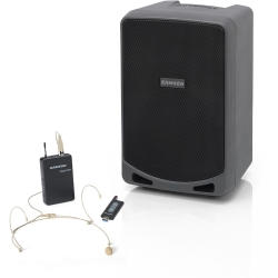 SAMSON EXPEDITION XP106wDE - Sonorisation portable - 100W - Bluetooth - micro sans fil USB STAGE XPD1 Headset inclus