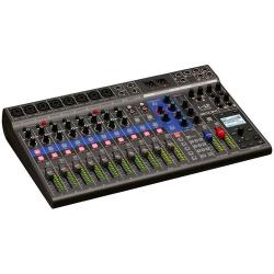 ZOOM L-12 LIVETRACK - Console mixage 12 voies - 5 mixages casques individuels - enregistreur multipiste et interface audio