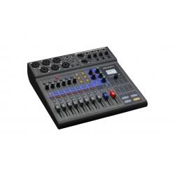 ZOOM L-8 LIVETRACK - Console mixage 8 voies - 4 mixages casques individuels, pads jingle, enregistreur multipiste et interface