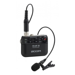 ZOOM F2-BT/B - 32-bit recorder with bluetooth - includes lavalier microphone - black